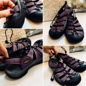 KEEN Water Sandals Sz 8M Women's VGUC Purple